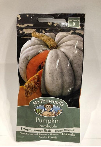 Mr. Fothergills Pumpkin Jarrahdale seeds (25 seeds ) - Johnny Boy