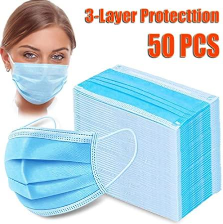 50 x Face Masks Disposable - JohnnyBoyAus