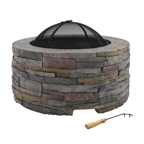 Fire Pit Outdoor Table Charcoal Fireplace Garden Firepit Heater