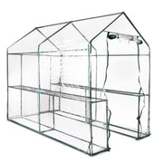 Greenhouse Garden Shed Green House 1.9X1.2M Storage Greenhouses Clear