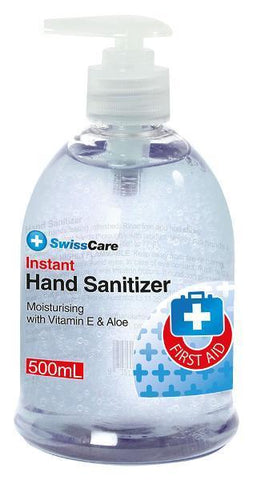 SwissCare Instant Hand Sanitiser Gel 70% Alcohol 500ml - Johnny Boy