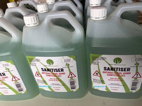 Bulk 5 Litres Hand Sanitiser Made In Australia 75% Alcohol - Johnny Boy