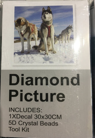 Lot A1 Dogs Diamond Art Kit Sets x 4 Paintings