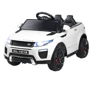 Kids Ride On Car  - White Convertible Children's Electric Toy Car