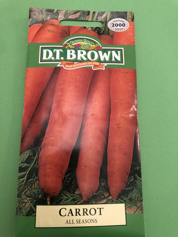 🥕 Carrot All Season D.T.Brown Vegetable Seeds - JohnnyBoyAus