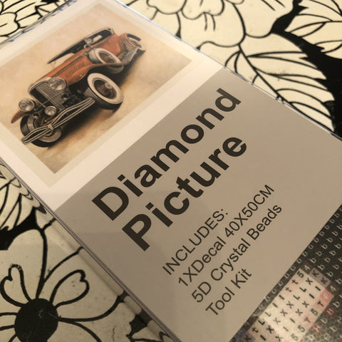 Vintage Car Diamond Painting Art Kit Set 40 x 50 Full Drill Round 5D - JohnnyBoyAus