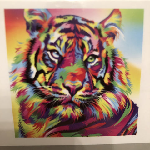 Diamond Art Kit Set Rainbow Tiger Painting 30 x 30 Full Drill - JohnnyBoyAus