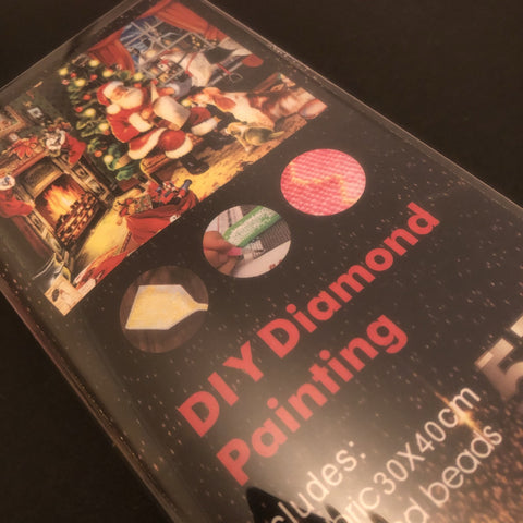 🎄 Christmas Diamond Painting Art Kit Set 30 x 40 Full Drill Round 5D - JohnnyBoyAus