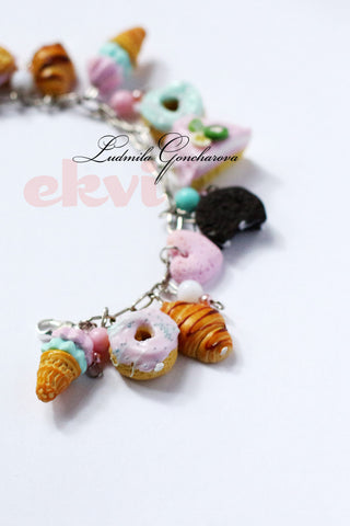 "FIMO bracelet ""pink and sweet"""