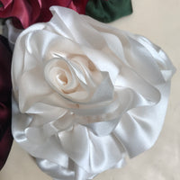Silk Flower Pins (available in 4 colors)