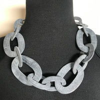 Upcycled Horn Chain Link Necklace