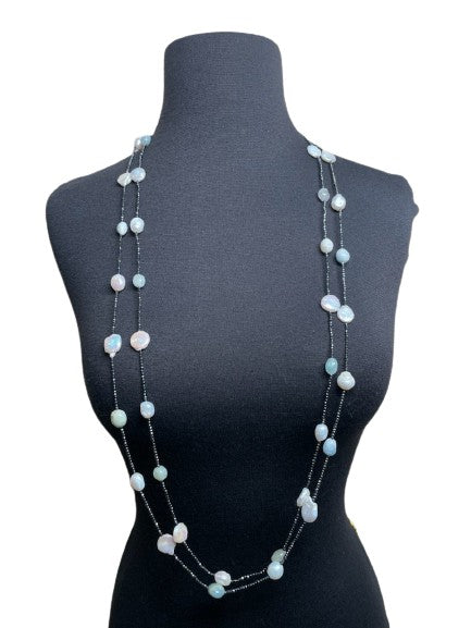 Long Gemstone Necklace (sold separately)