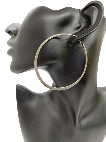 Sterling Silver Hand-Hammered Hoops from Mali (two sizes available)