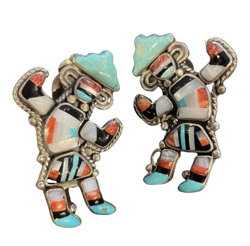 Small Kokopelli Clip-On Earrings