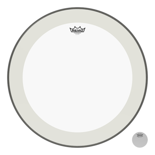 Remo Powerstroke P4 Clear Bass Drumhead with Falam Patch 22