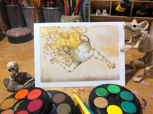 Leo Zodiac Cauldron - Original Watercolor Painting