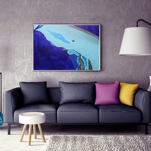 "MALDIVES SERIES - ""Deep Blue Sea"" - Artinzene"