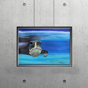 "MALDIVES SERIES - ""Turtle Magic"" - Artinzene"