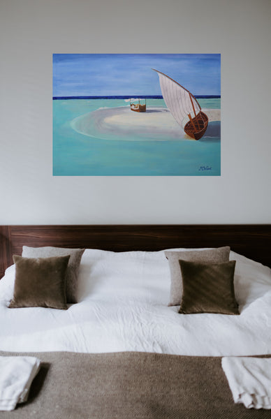 MALDIVES - Yatch on the beach - Artinzene