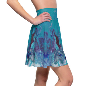 Women's Skater Skirt - Misty River - Artinzene