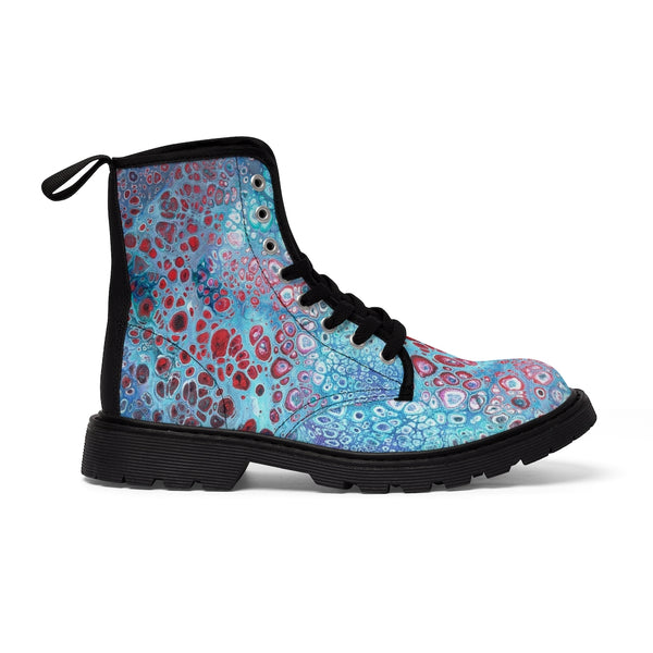Women's Canvas Boots - Galaxy - Artinzene