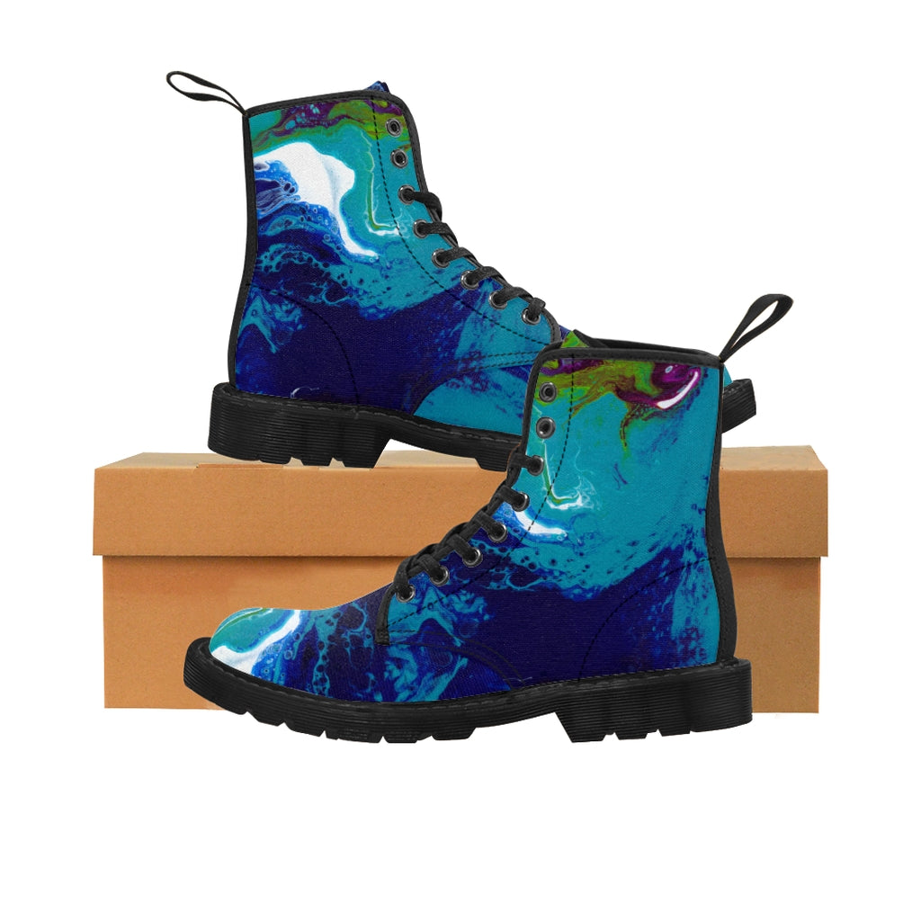 Women's Canvas Boots - Mars - Artinzene