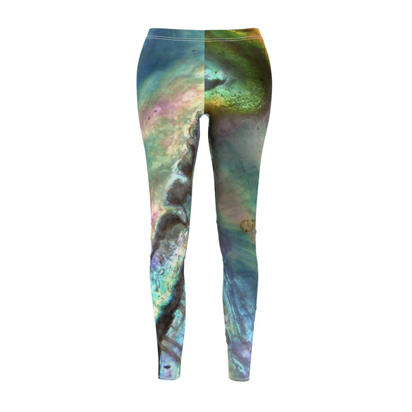 Women's Casual Leggings - Paua Shell - Artinzene