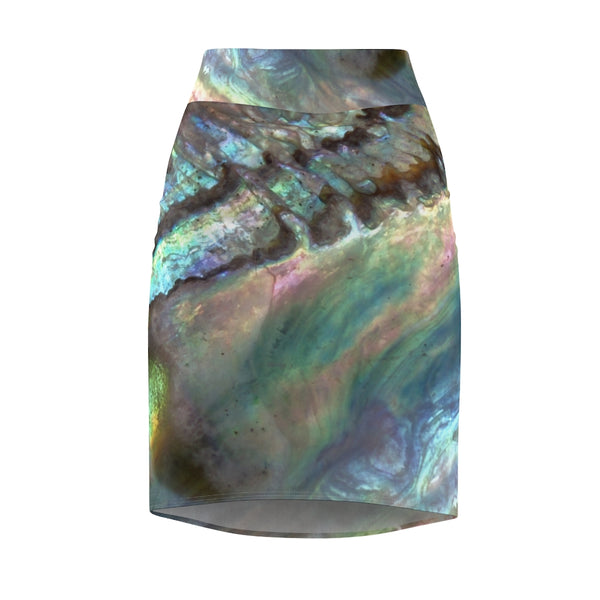 Women's Pencil Skirt - Paua Dream - Artinzene
