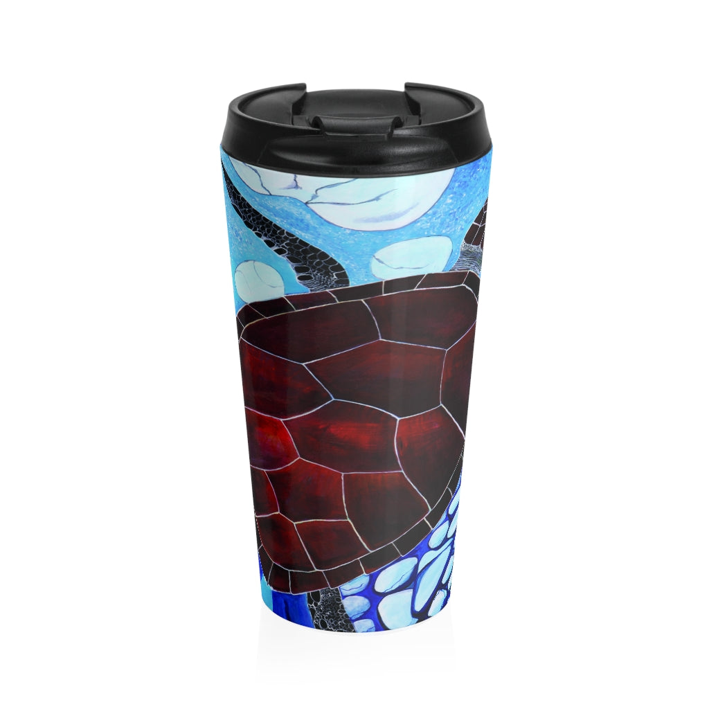 Stainless Steel Travel Mug - Turtle - Artinzene