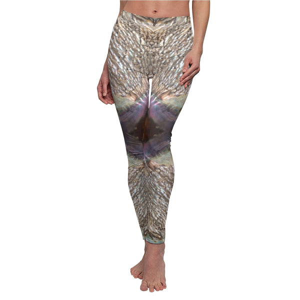 Women's Cut Casual Leggings - Shell - Artinzene