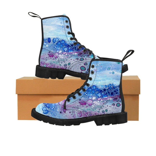 Women's Canvas Boots - Milky Way - Artinzene
