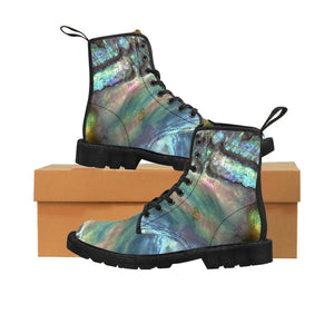 Women's Canvas Boots - Paua Dream - Artinzene