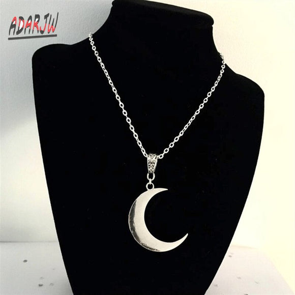 Crescent Moon necklace mystic gothic jewelry Lunar witch celtic Pagan Wiccan luna Moon phase witchy Goddess Fashion woman gift