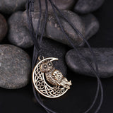 My shape Supernatural Wicca Moon & Star hollowed-out Pendant Cute Owl Animal Necklace Irish Knot Viking Vintage Charm Jewelry