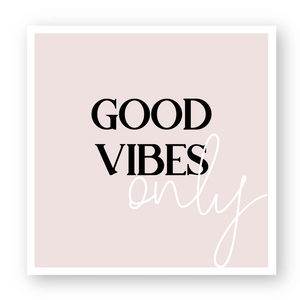 "Stickers(5) ""Good Vibes Only"""