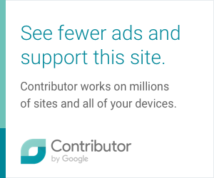 Click here to see fewer ads and support this site. Contributor by Google.