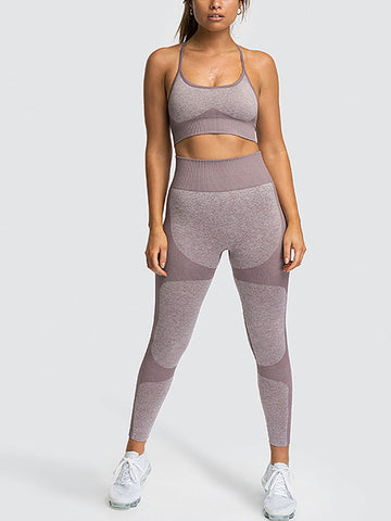 Sexy Quick Dry Splice Yoga Set