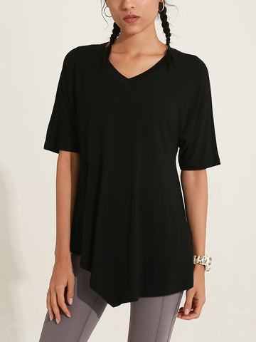 V Neck Quick Dry Yoga Top