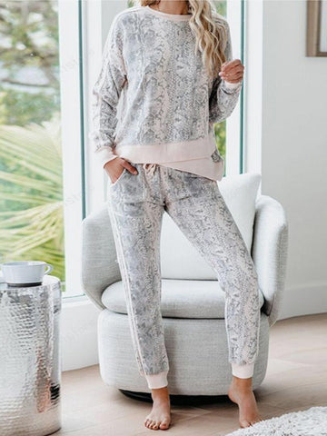 Daily Snakeskin Printed Clothing Set