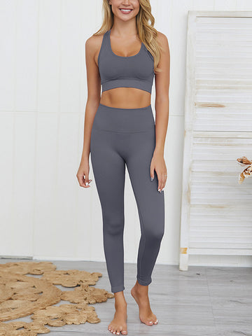 Sexy Knitting Hip-up Yoga Set