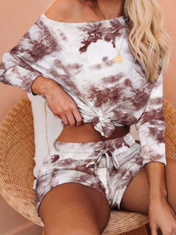 Tie-dyed Long Sleeve Clothing Set