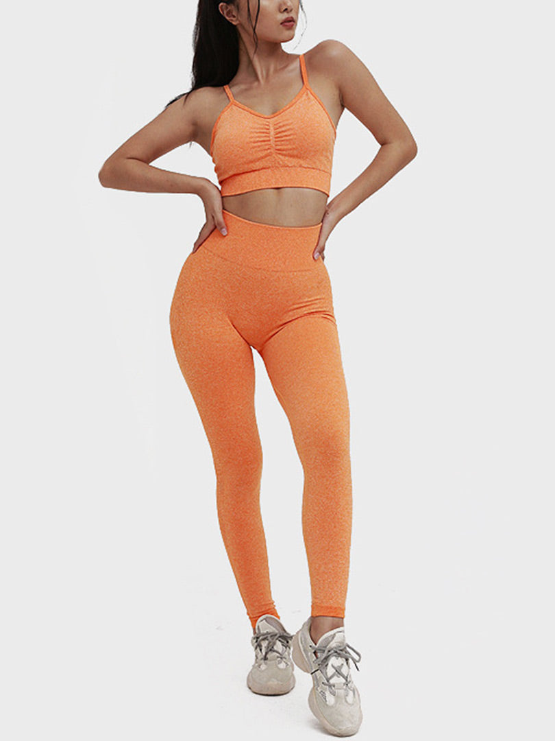 Seamless Collapse Hip-up Yoga Wear