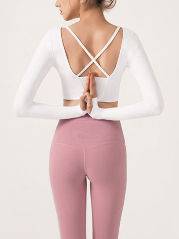 Sexy Slim Beauty Back Yoga Wear Top