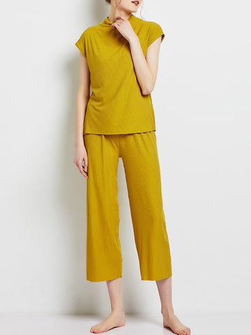 Modal Solid Home Pajama Set
