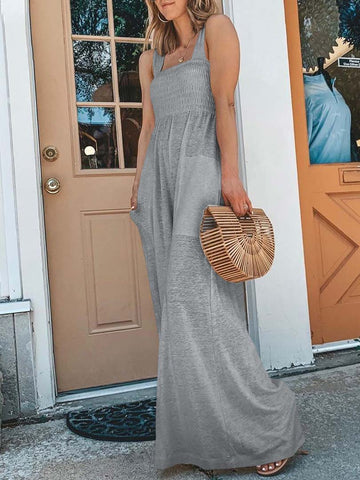 Summer Vacation Solid Jumpsuit