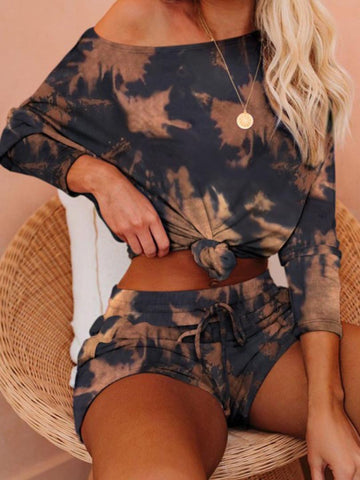Maple Leaf Printed Clothing Set
