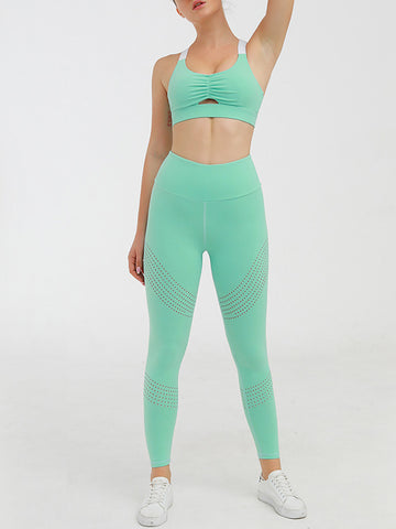 Pure Color Breathable Hip-up Yoga Wear