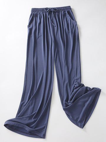 Loose Style High Waist Modal Long Pajama Bottom