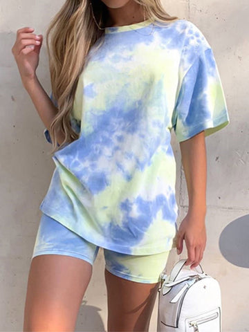 Summer Trending Tie Dye Clothing Set