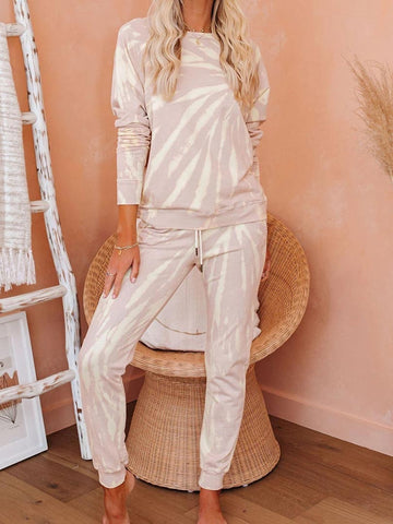 Casual Long Sleeve Loungwear Clothing Set
